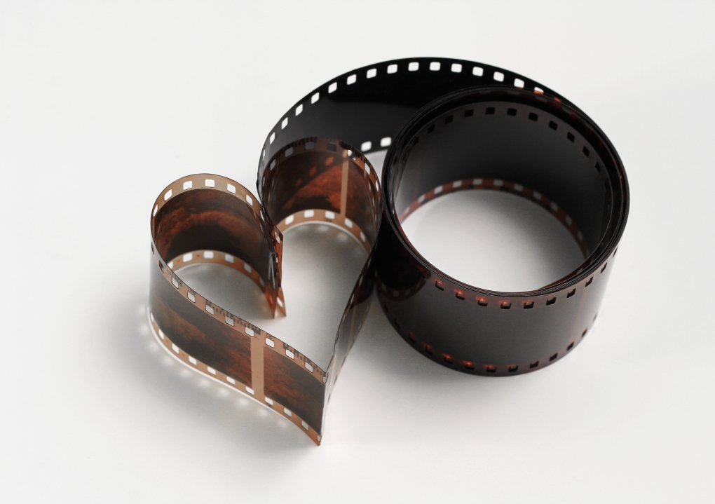 A film in the shape of a heart